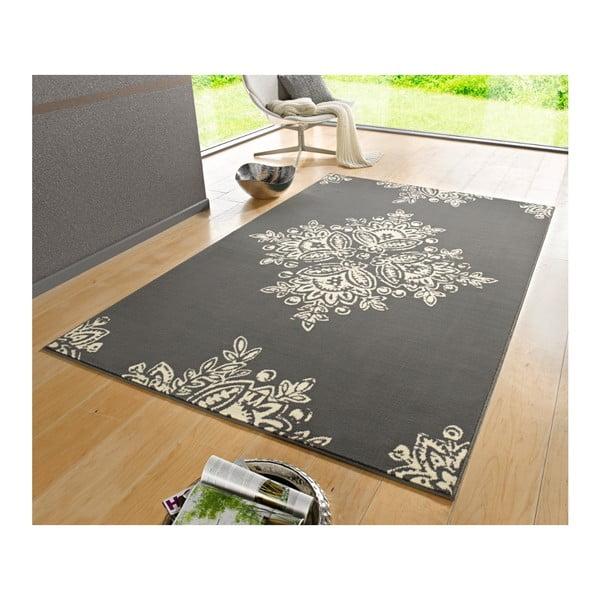 Sivo-biely koberec Schöngeist & Petersen Gloria Blossom, 80 x 150 cm