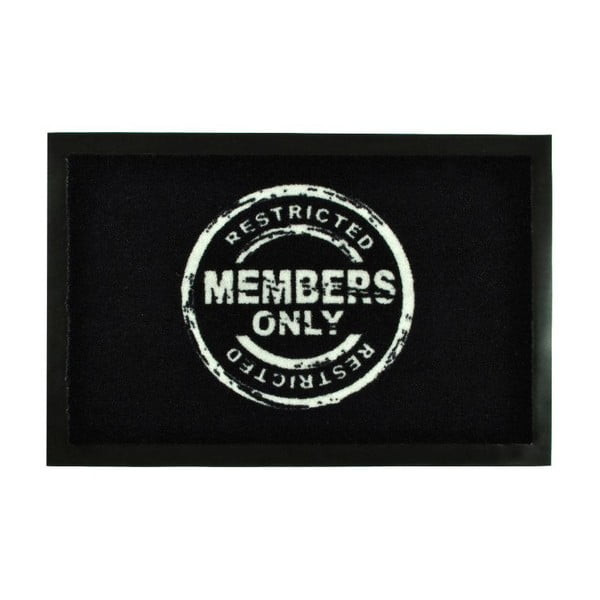 Rohožka Members Only Black, 40x60 cm