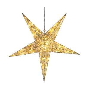 Svietiaca dekorácia  Golden Star, výška 55 cm