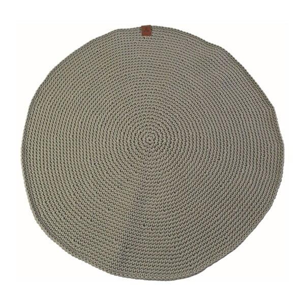 Háčkovaný okrúhly koberec Catness, zelený, 100 cm
