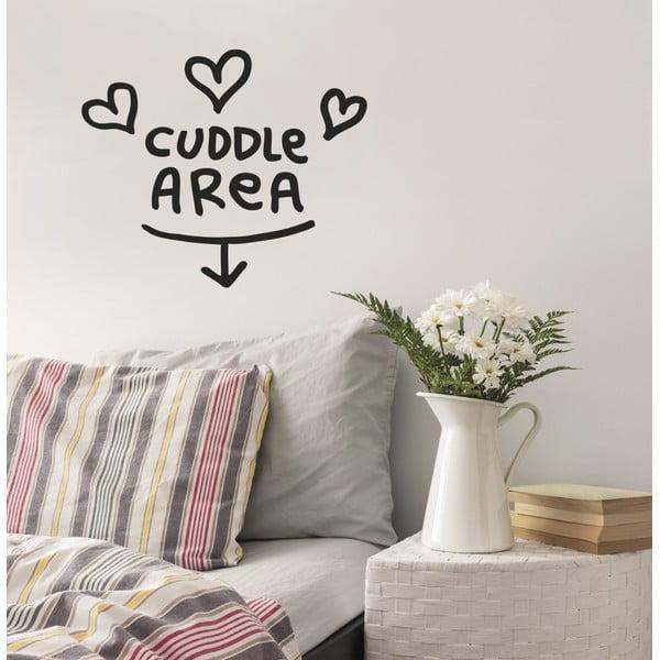 Samolepka Cuddle Are 28x31 cm, černá