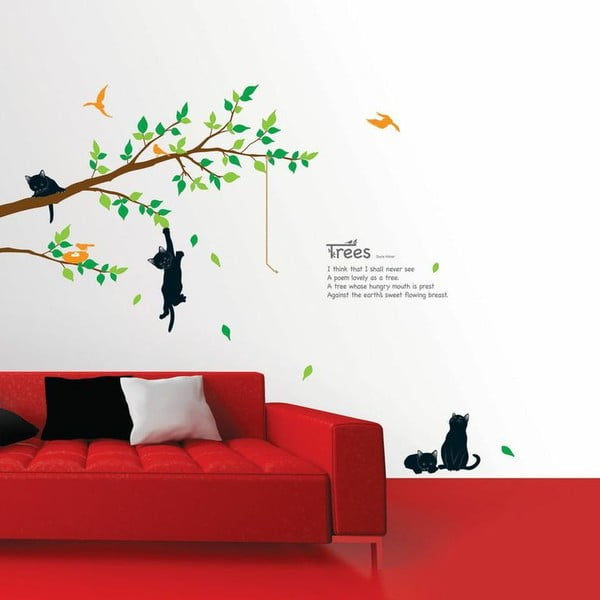 Sada samolepiek Ambiance Tree And Cat