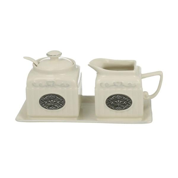 Cukornička a nádoba na mlieko Duo Gift Lamella