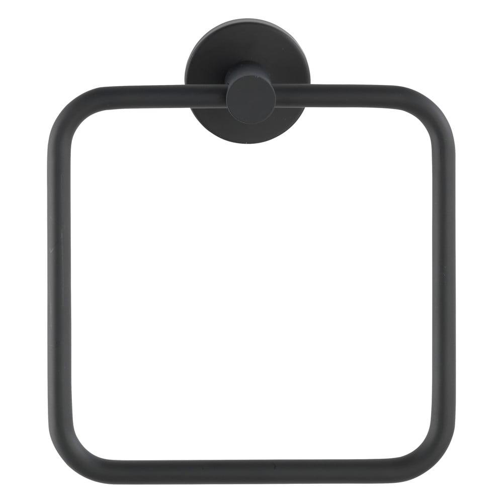 Čierny antikoro nástenný držiak na uteráky Wenko Mezzano Ring