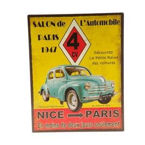 Plechová ceduľa Nice - Paris