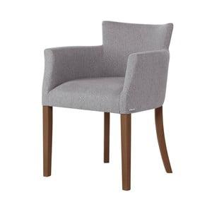 Sivá stolička s tmavohnedými nohami Ted Lapidus Maison Santal