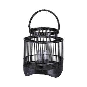 Čierny dekoratívny lampáš A Simple Mess Stakke