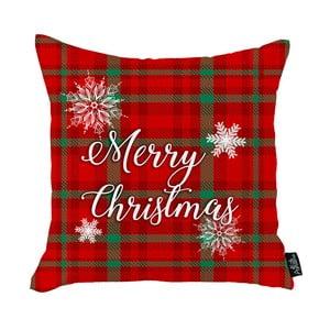 Červená vianočná obliečka na vankúš Apolena Honey Merry Christmas, 45 x 45 cm