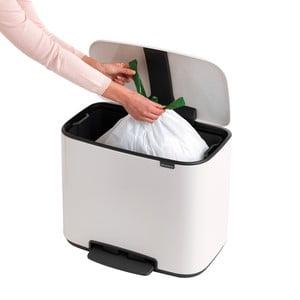 Biely odpadkový pedálový kôš Brabantia Bo, 36 l