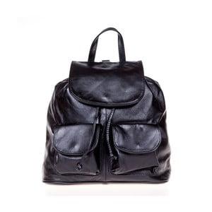 Čierny kožený batoh Italia in Pogress Jane