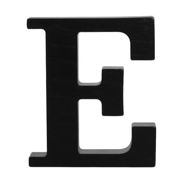 Čierne drevené písmeno Typoland E