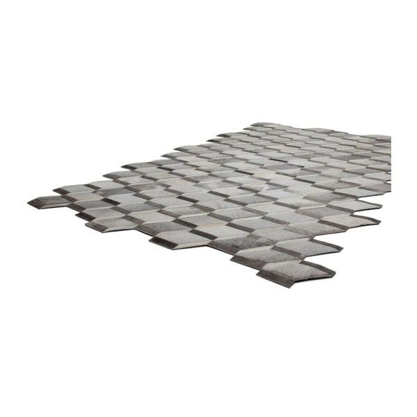 Kožený koberec Revolution Grey, 160x230 cm