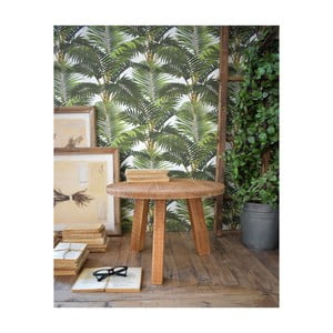 Odkladací stolík z teakového dreva Orchidea Milano Country, ø 50 cm