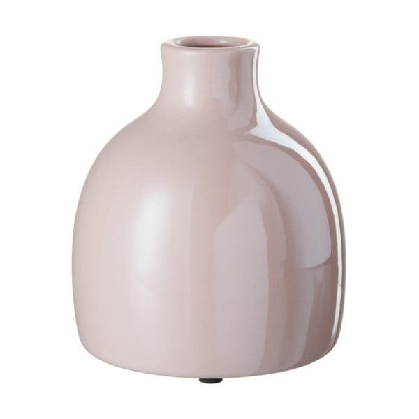 Ružová kameninová váza J-Line, 15x15x13 cm