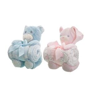 Sada 2 detských diek s plyšákmi Unimasa Bears, 100 x 75 cm