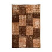 Vlnený koberec Allmode Patchwork Brown, 150x80 cm