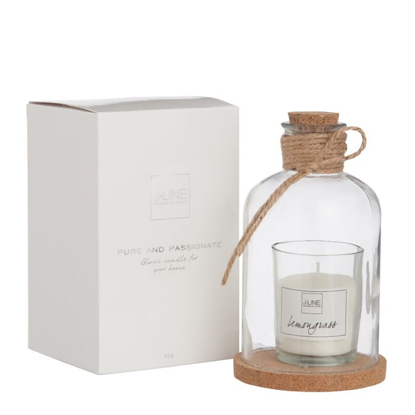 Poháre s vonnou sviečkou Bottle Candle, 8x14 cm, vôňa citrónovej trávy