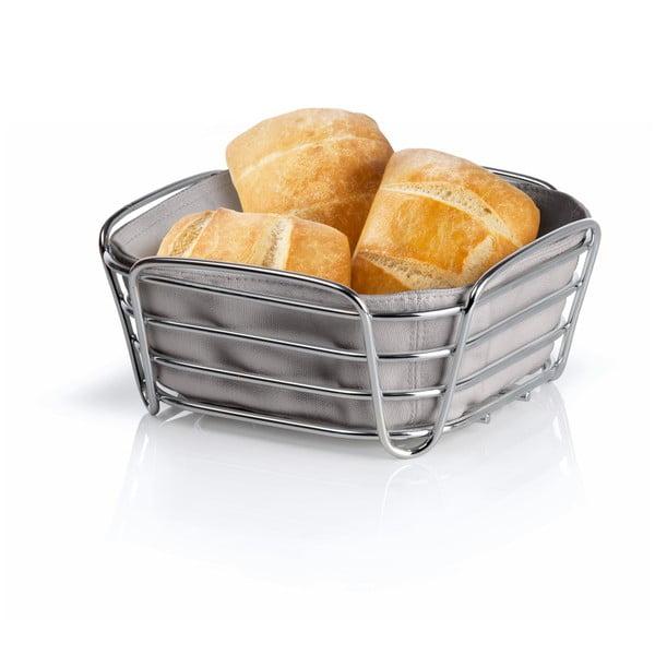 Košík na pečivo so sivou bavlnenou vložkou Blomus Delara