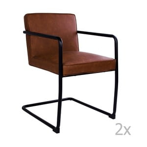 Sada 2 hnedých stoličiek House Nordic Valbo