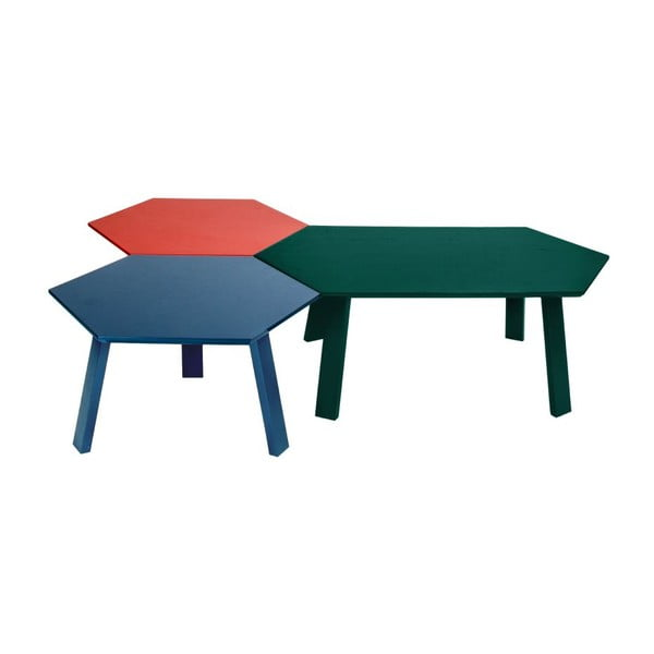 Konferenčný stolík Hexagon Green, 105x37x61 cm