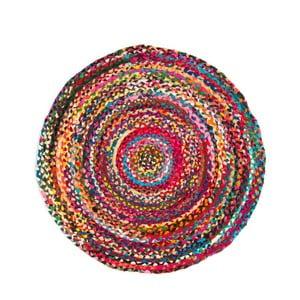 Farebný koberec z konopného vlákna Cotex Rondo, ø 140 cm