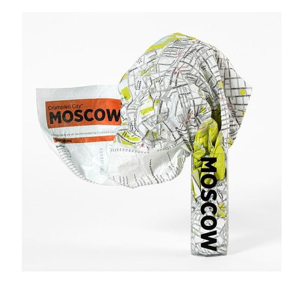 Pokrčená cestovná mapa Moskva