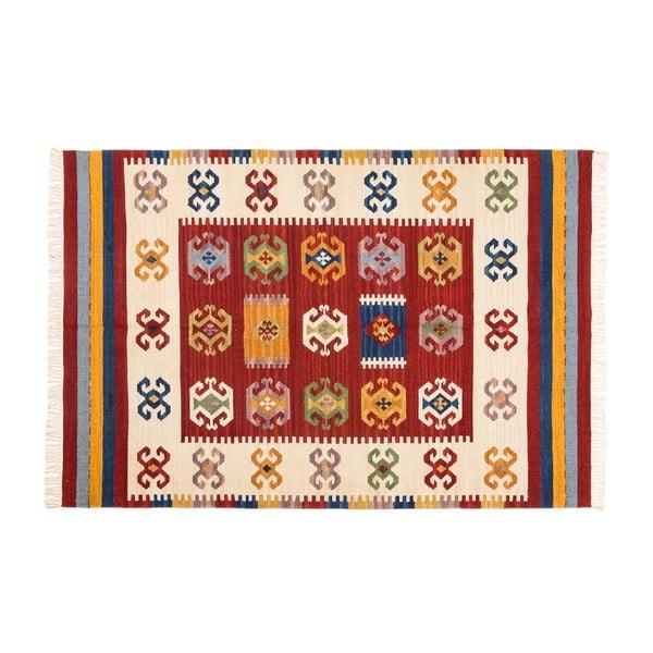 Ručne tkaný koberec Kilim Dalush 006, 90x60 cm
