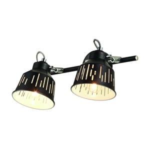 Čierna nástenná lampa pre 2 žiarovky Lamkur Jack