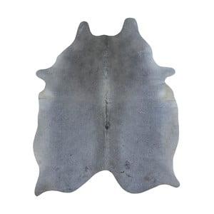 Sivý koberec z hovädzej kože, 185 x 140 cm