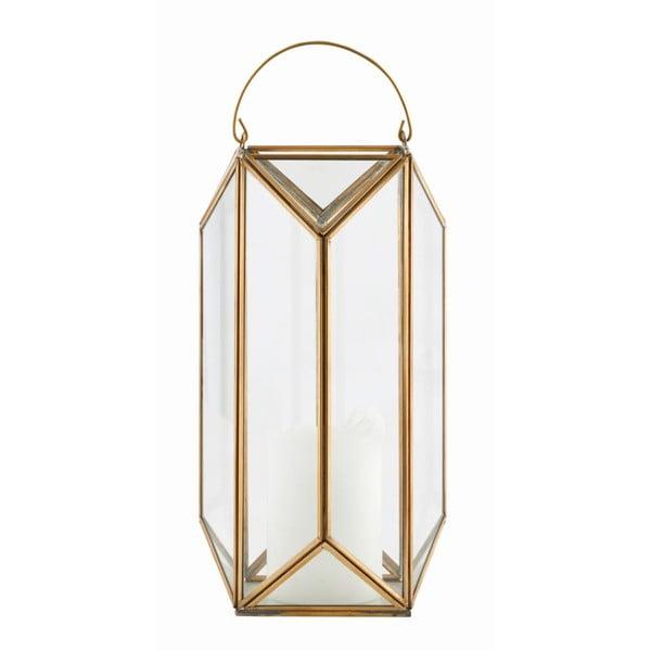 Lampáš Tall Cubix Brass, 30x16 cm