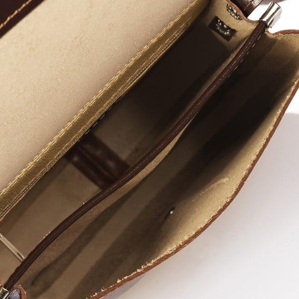 Hnedá kožená kabelka Giorgio Costa Calista