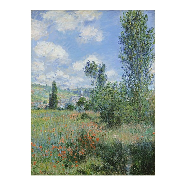 Obraz Claude Monet - View of Vétheuil, 80x60 cm