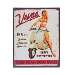Plechová ceduľa Antic Line Vespa No.1, 28x22 cm