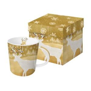 Porcelánový hrnček s vianočným motívom v darčekovom balení PPD Woodland Deer, 350 ml