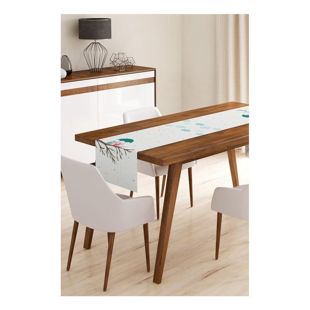 Behúň na stôl z mikrovlákna Minimalist Cushion Covers Owls on Tree, 45 × 145 cm