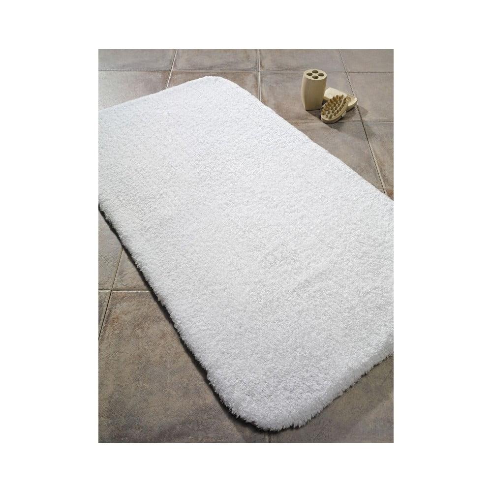Biela predložka do kúpeľne Confetti Bathmats Organic 1500, 60 x 90 cm