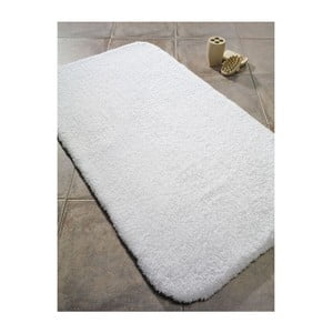 Biela predložka do kúpeľne Confetti Bathmats Organic 1500, 50x90cm