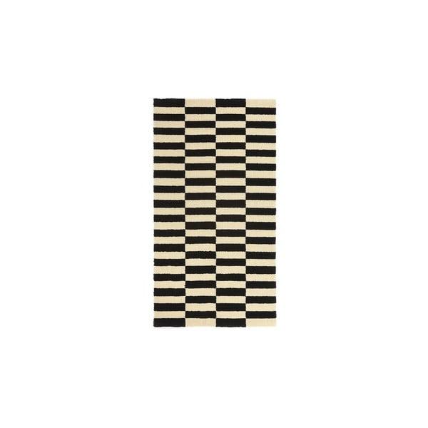 Vlnený koberec Oslo no.2, 140x200cm, čierny