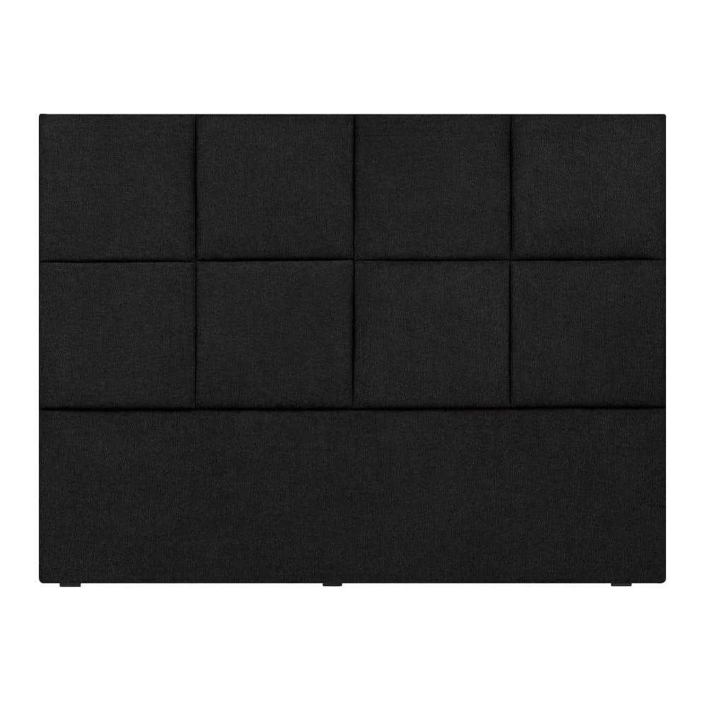 Čierne čelo postele Mazzini Sofas Barletta, 200 x 120 cm
