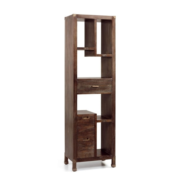 Knižnica z dreva mindi Moycor Industrial, 190 x 55 cm