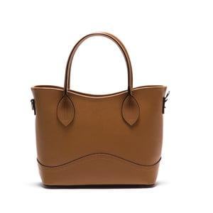 Kožená kabelka Anna Luchini 435 Cognac