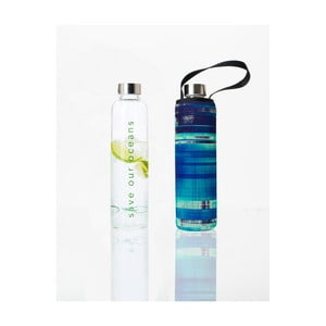Cestovná termofľaša z borosilikátového skla s obalom BBBYO Glassy, 750 ml