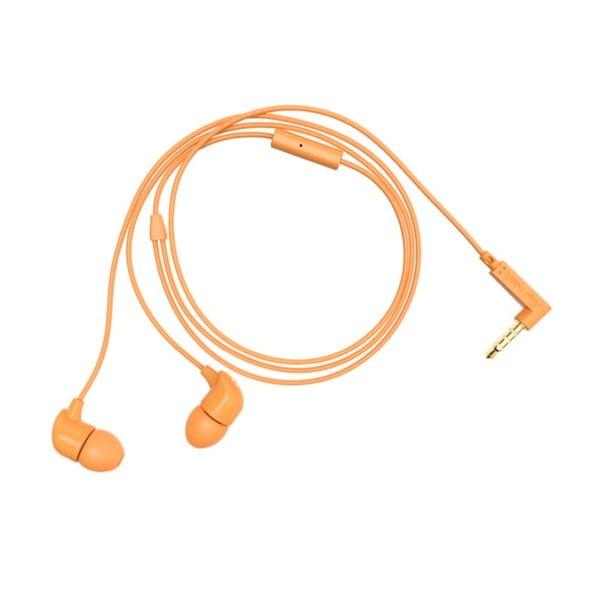 Slúchadlá s nadstavcami Happy Plugs, oranžové