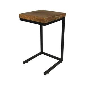 Príručný stolík z kovu a teakového dreva HSM Collection