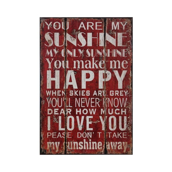 Obraz You Are My Sunshine, 25x38 cm