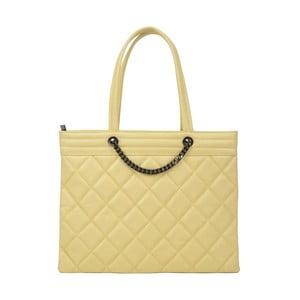Žltá kožená kabelka Roberta M Margot