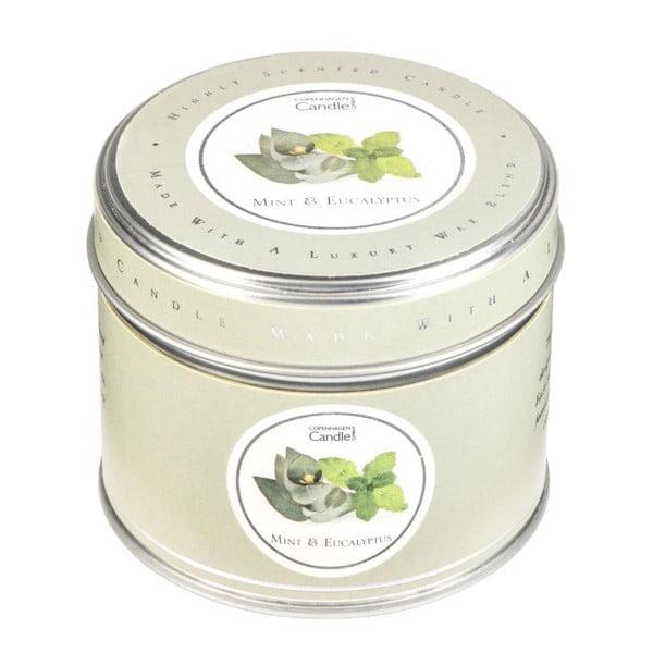 Aromatická sviečka v plechovke s vôňou mäty a eukalyptu Copenhagen Candles, doba horenia 32 hodín