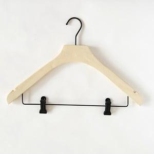 Svetložltý drevený vešiak s 2 klipsňami Compactor Hang & Keep