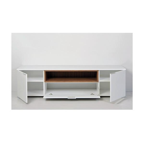 Televízny stolík Grand, biely/samba
