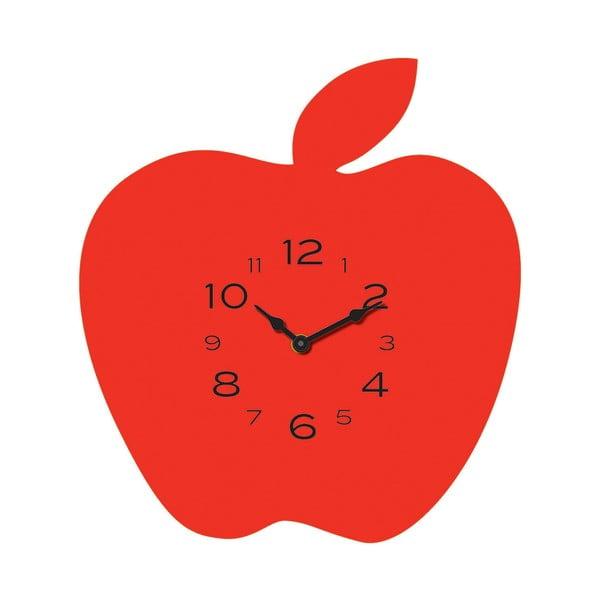 Hodiny Apple Red
